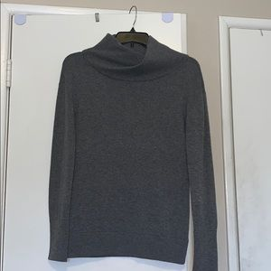VINCE Cowl neck long sleeve sweater Gray M B6